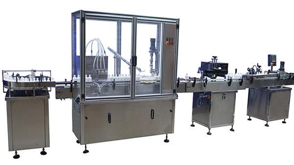 Otomatik Şişe Dolum Kapatma ve Etiketleme Makinesi