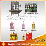 Otomatik 2, 4, 6, 8, 10, 12 Kafa Yenilebilir Yemeklik Yağ Dolum Makinesi