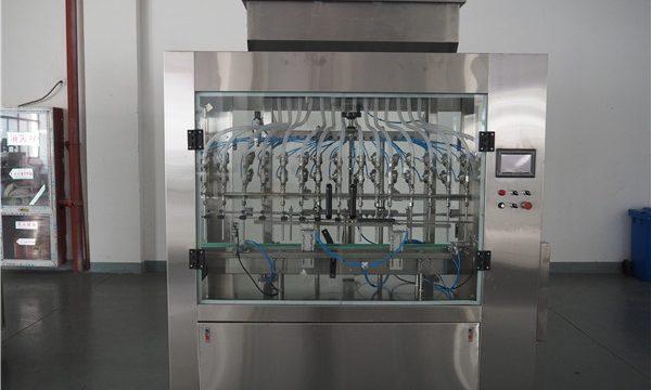 Otomatik 12 Kafa Atmosferik Basınçlı Sıvı Dolum Makinesi