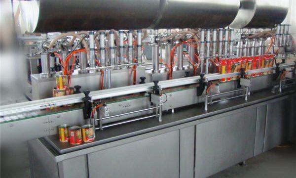 Çift Kafalı Tam Otomatik Biber Ezmesi Dolum Makinesi