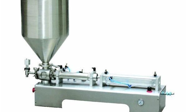 Yarı Otomatik Kalamin Losyonu Yapıştır / Sıvı Şişe Piston Dolum Makinesi